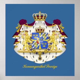 Escudo de armas sueco póster