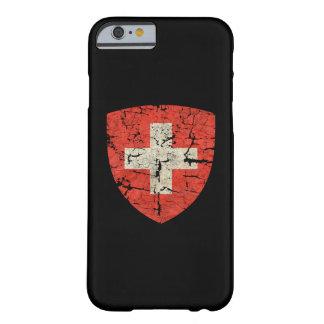 Escudo de armas suizo apenado funda de iPhone 6 barely there