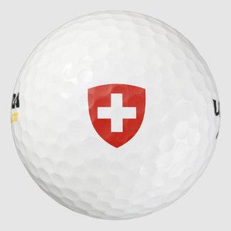 Escudo de armas suizo pack de pelotas de golf