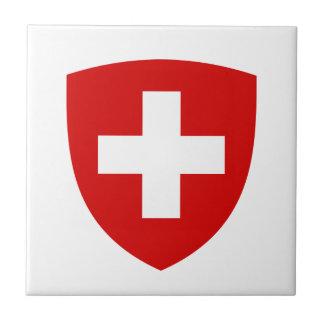 Escudo de armas suizo - recuerdo de Suiza Azulejo Cuadrado Pequeño