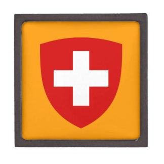 Escudo de armas suizo - recuerdo de Suiza Caja De Regalo De Calidad