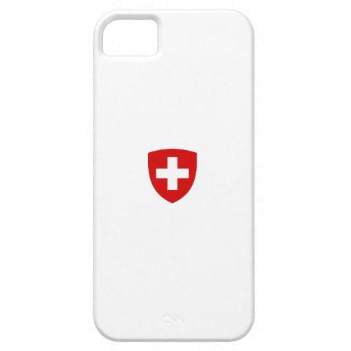 Escudo de armas suizo - recuerdo de Suiza iPhone 5 Funda