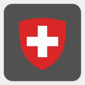 Escudo de armas suizo - recuerdo de Suiza Calcomanía Cuadradas Personalizadas