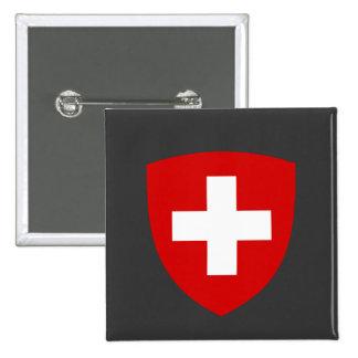 Escudo de armas suizo - recuerdo de Suiza Pin Cuadrado