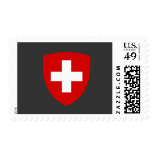 Escudo de armas suizo - recuerdo de Suiza Franqueo