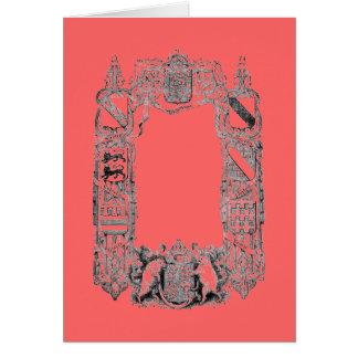 Escudo de armas tarjeta pequeña