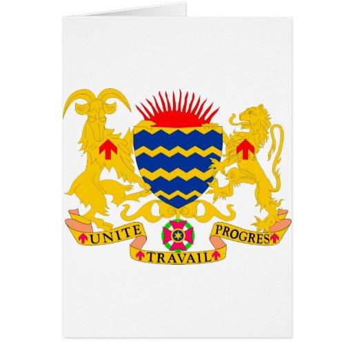 Escudo de armas TD de República eo Tchad Tarjetas