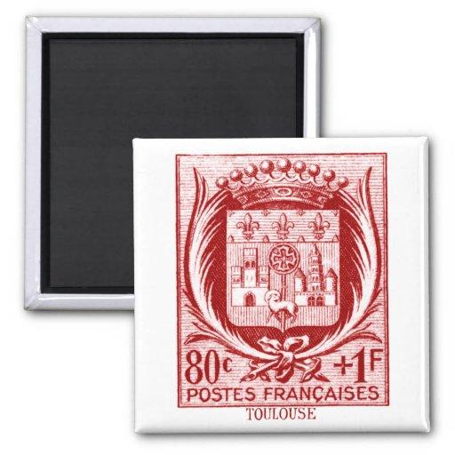 Escudo de armas, Toulouse Francia Imán Cuadrado