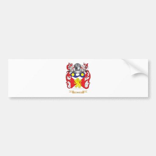 Escudo de armas trasero (escudo de la familia) etiqueta de parachoque