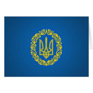 Escudo de armas ucraniano tarjeta pequeña