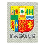Escudo de armas vasco tarjeta postal