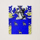 Escudo de armas verde puzzles con fotos