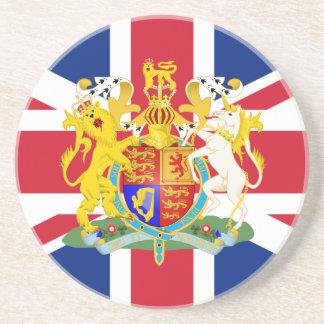 Escudo de armas y bandera BRITÁNICOS Posavasos Para Bebidas