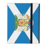 Escudo de armas y bandera de Escocia iPad Fundas