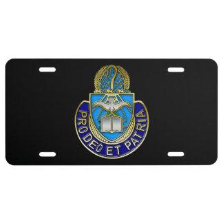 Escudo de Army Chaplain Corp Placa De Matrícula