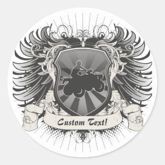 Escudo de ATV Etiquetas Redondas