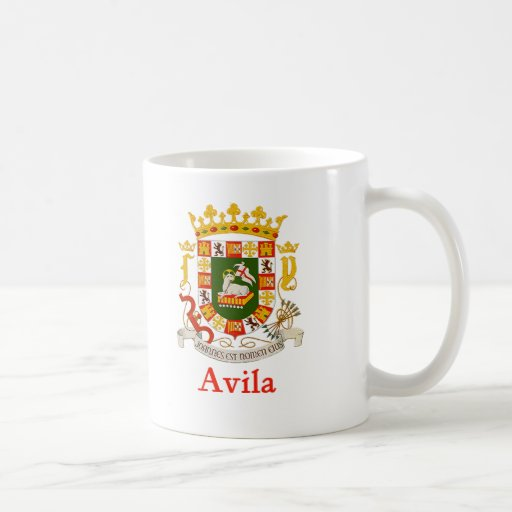 Escudo de Ávila Puerto Rico Taza De Café