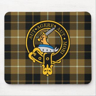 Escudo de Barclay y cojín de ratón escoceses del t