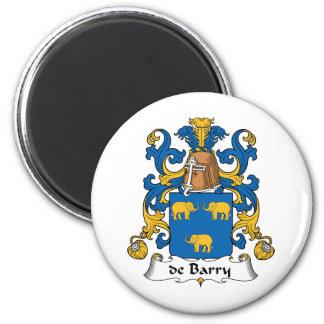 escudo de Barry Family Imán Redondo 5 Cm