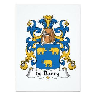 """escudo de Barry Family Invitación 6.5"""" X 8.75"""""""