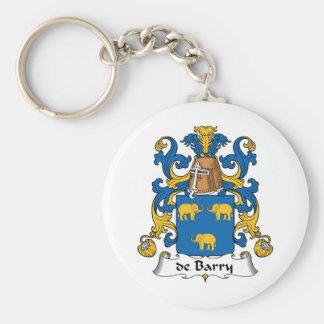 escudo de Barry Family Llavero Redondo Tipo Pin