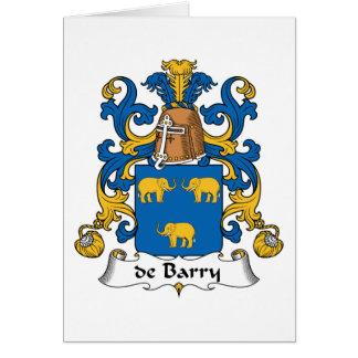 escudo de Barry Family Tarjeta De Felicitación