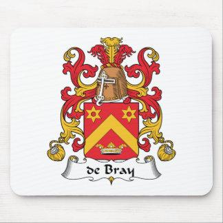 escudo de Bray Family Alfombrillas De Ratones