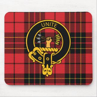 Escudo de Brodie y cojín de ratón escoceses del ta