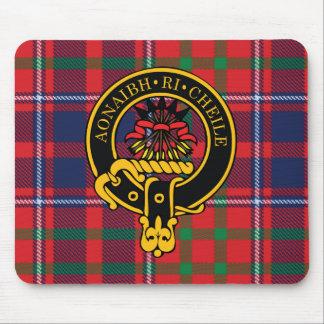 Escudo de Cameron y cojín de ratón escoceses del t