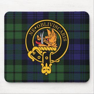 Escudo de Campbell y cojín de ratón escoceses del