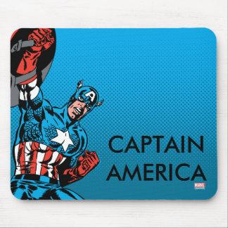 Escudo de capitán América para arriba Mousepad