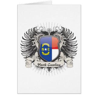 Escudo de Carolina del Norte Tarjetas