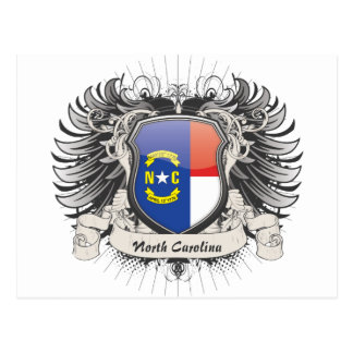 Escudo de Carolina del Norte Postal