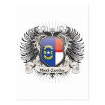Escudo de Carolina del Norte Tarjeta Postal