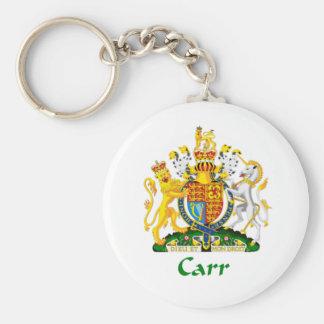 Escudo de Carr de Gran Bretaña Llavero Redondo Tipo Pin