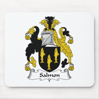 Escudo de color salmón de la familia alfombrillas de ratones