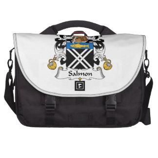 Escudo de color salmón de la familia bolsas para portatil