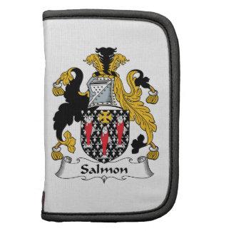 Escudo de color salmón de la familia planificador