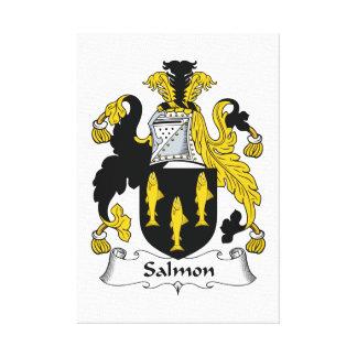 Escudo de color salmón de la familia impresión en lienzo