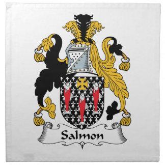 Escudo de color salmón de la familia servilletas