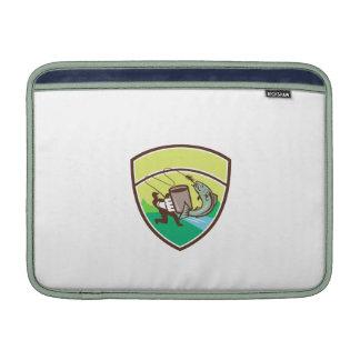 Escudo de color salmón de la taza del pescador de fundas macbook air