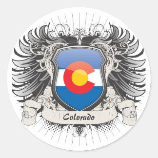 Escudo de Colorado Etiquetas Redondas