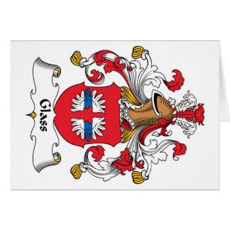 Escudo de cristal de la familia tarjeta de felicitación