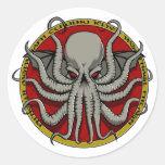 Escudo de Cthulu Etiqueta Redonda