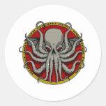 Escudo de Cthulu Etiquetas Redondas
