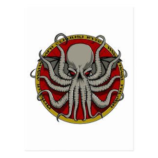 Escudo de Cthulu Tarjeta Postal