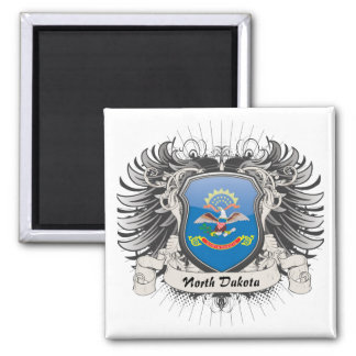 Escudo de Dakota del Norte Imán De Frigorífico