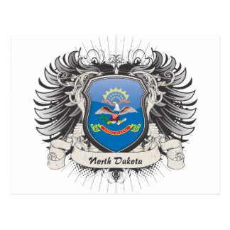 Escudo de Dakota del Norte Postales