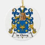 Escudo de De Clercq Family Ornamento Para Arbol De Navidad