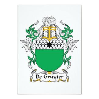 """Escudo de De Gruyter Family Invitación 5"""" X 7"""""""
